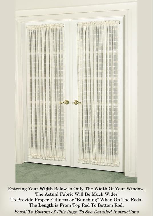 Curtain Door Panel Beautiful 'Crushed Voile' (Door Curtains)
