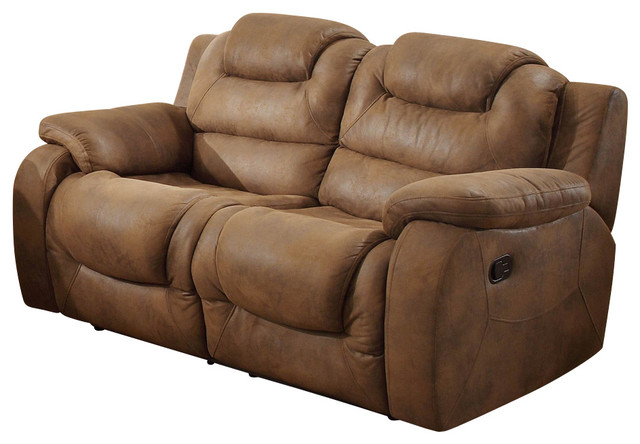Homelegance Hoyt Double Reclining Loveseat in Bomber Jacket
