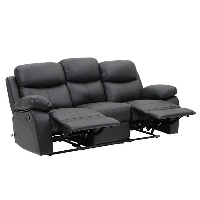 Modern Recliner Swivel Rocker Recliner Double Recliner Black Leather