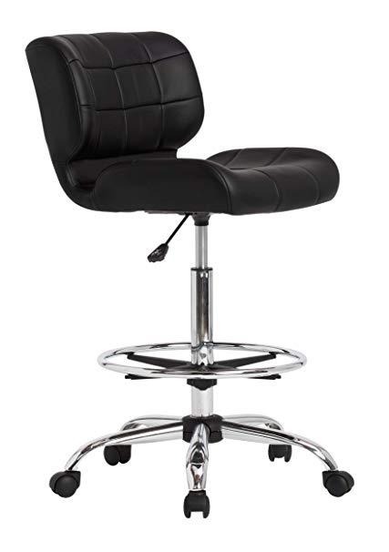 Amazon.com: Studio Designs Modern Black Crest Drafting Chair: Arts