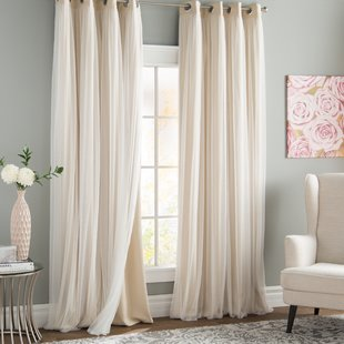 Grommet Drapes And Curtains | Wayfair