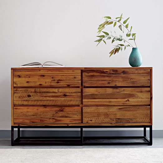 Logan Industrial 6-Drawer Dresser - Natural | west elm