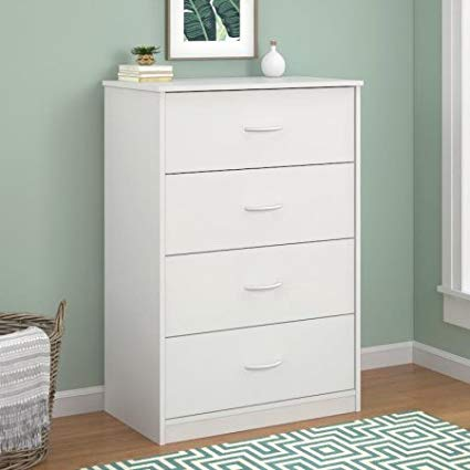 Amazon.com: Mainstays 4-Drawer Dresser White: Kitchen & Dining