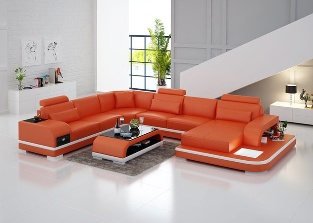 Durable sofa LED light sofa-in Living Room Sofas from Furniture on