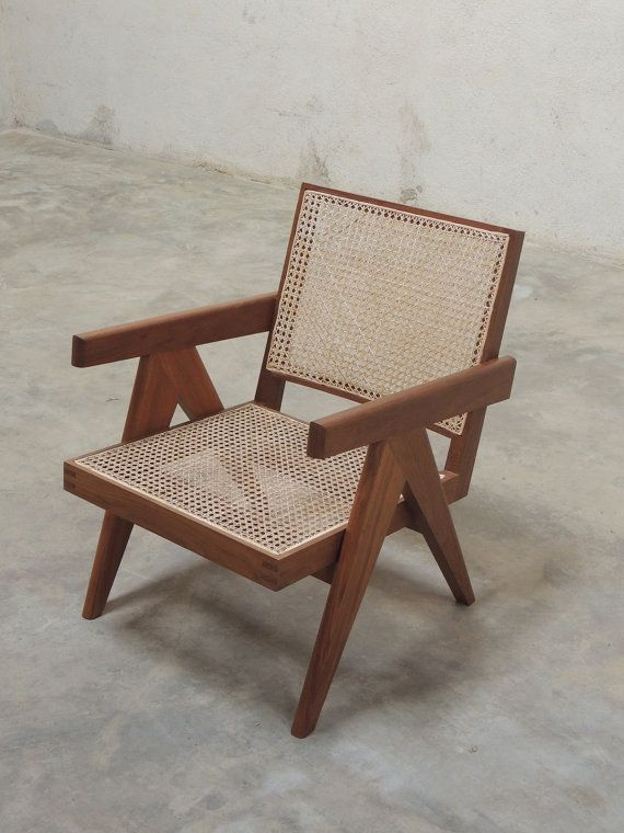 Easy Armchair - Natural Teak Finish (Pierre Jeanneret Style