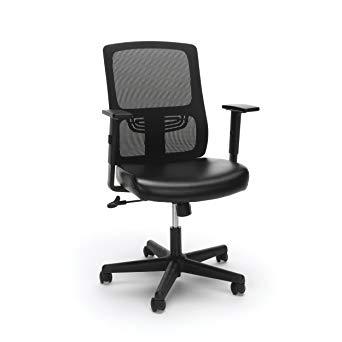 Amazon.com: Essentials Ergonomic Task Chair - Mesh Back and Leather