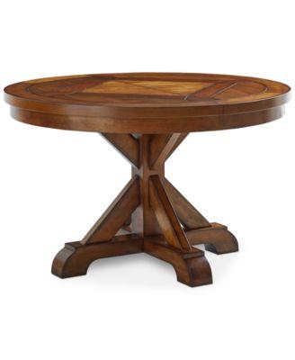 Furniture Mandara Round Expandable Dining Trestle Table - Furniture