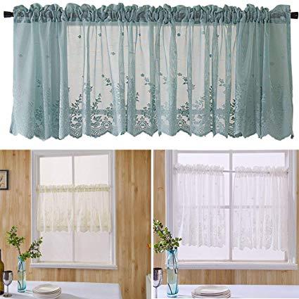 Amazon.com: Onner White Lace Short Curtain, Elegant Lace Exquisite