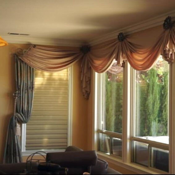 Curtains and Drapes Los Angeles: Exquisite corner window treatment