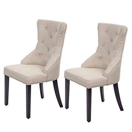 Amazon.com - Dining Chairs Fabric Dining Chairs Dining Room Chair