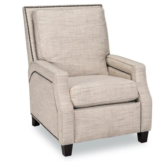 Peyton Fabric Recliner, Malin Button Jar - Opulence Home 8756