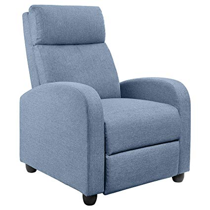 Amazon.com: JUMMICO Fabric Recliner Chair Adjustable Home Theater