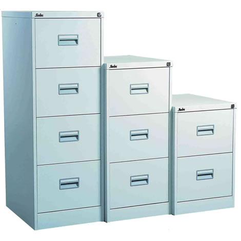 Silverline Midi Filing Cabinet 2 Drawer ( Choice of Colours )