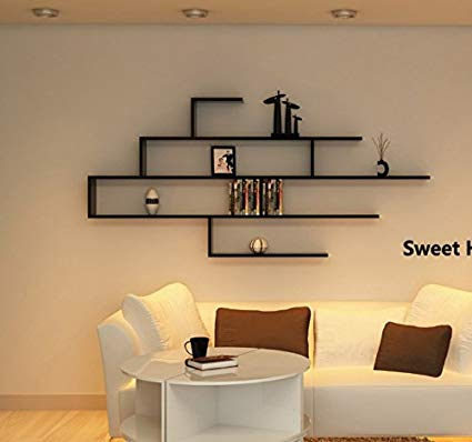 Amazon.com: Wall Mount Floating Shelves Display Bedroom Decorative