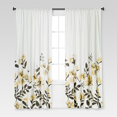 Climbing Floral Window Curtain Panel - Threshold™ : Target