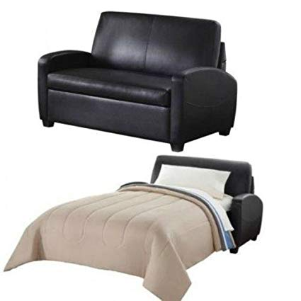 Amazon.com: Alex's New Sofa Sleeper Black Convertible Couch loveseat