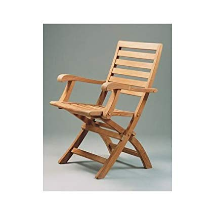Amazon.com: Andrew Folding Armchair By Anderson Teak: Kitchen & Dining