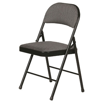 Fabric Padded Folding Chair Gray 4 Pack - Plastic Dev Group® : Target
