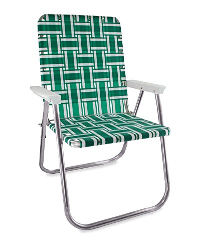 Amazon.com : Lawn Chair USA Aluminum Webbed Chair (Deluxe, Green and