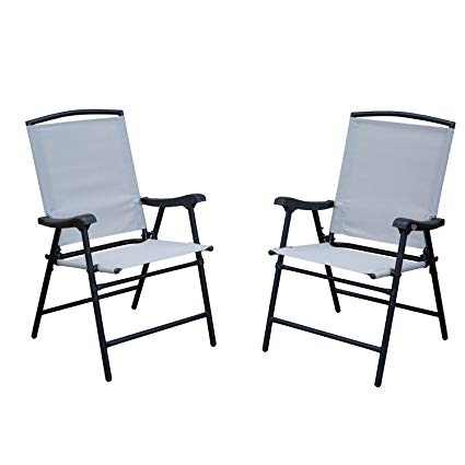 Amazon.com : SLN Outdoor Folding Lawn Chairs with Steel Frame