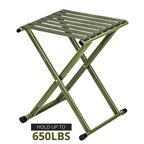 Amazon.com: TRIPLE TREE Portable Folding Stool, Super Strong Heavy