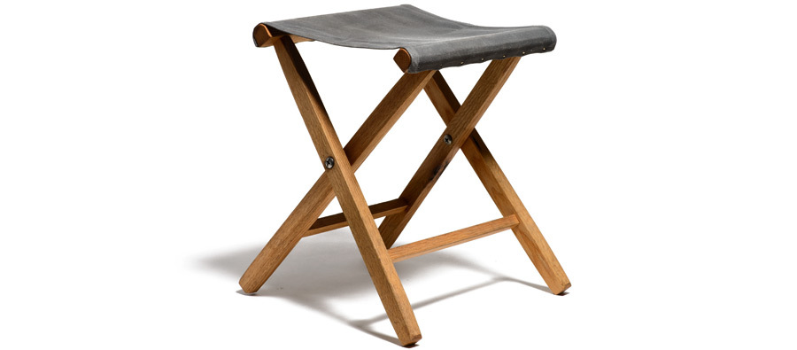 Waxed Canvas & Oak Folding Stool | Kaufmann Mercantile | Kaufmann