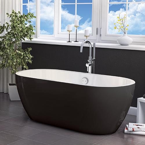 Buy Synergy San Marlo Black 1655MM Freestanding Bath (Black)