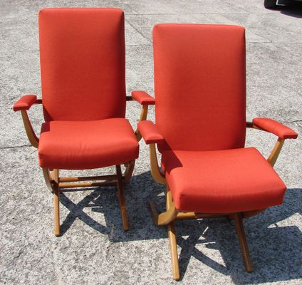 Vintage French Armchairs, 1960s, Set of 2 for sale at Pamono