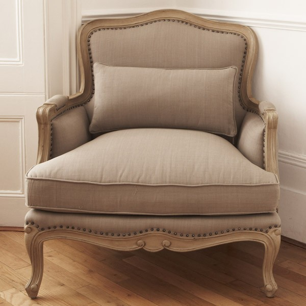 Lyon Upholstered French Sofa Chair | French Armchairs | French Furniture