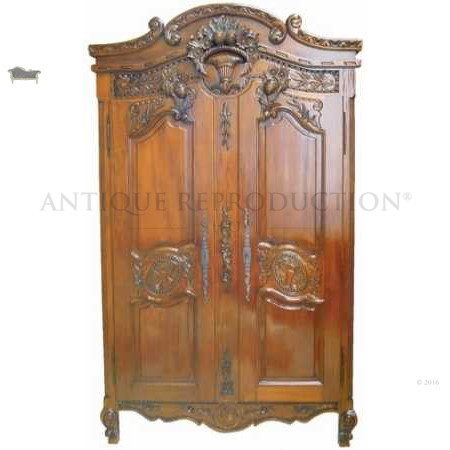French Armoire Wardrobe - Antique Reproduction Shop