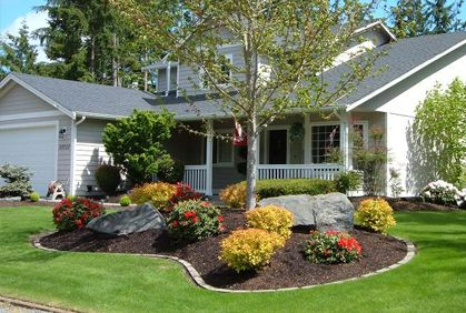 Front yard landscaping designs, DIY ideas, photo gallery and 3D