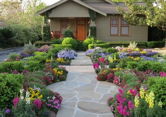 49+) Front Yard Landscaping Ideas | Simple Design for Garden & Beds