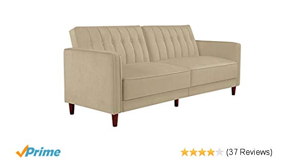 Amazon.com: DHP Ivana Vintage Tufted Upholestered Futon Sofa Bed