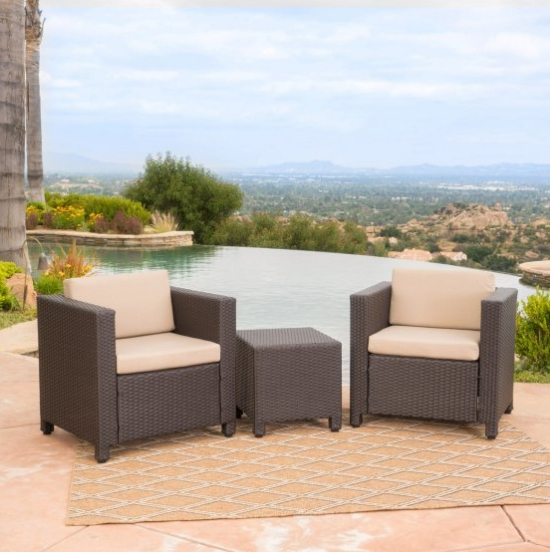 Hot sale all weather garden furniture balcony sofa set wicker