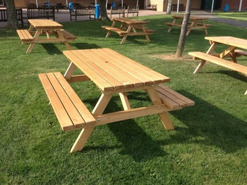 Beer Garden Table And Bench Heavy Duty Folding Tables Pub - 5ft