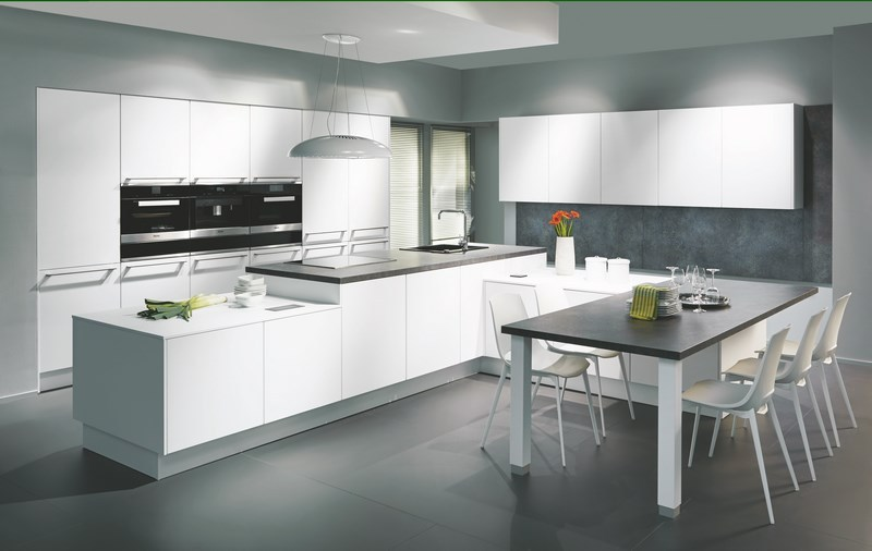 White Nobilia German Kitchens - affordable German Kitchens
