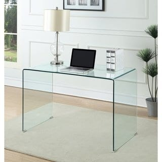Shop Contemporary Clear Glass Writing Desk - Free Shipping Today