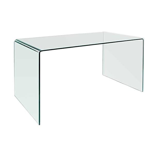 Shop Creative Images Bent Clear Glass Office Desk Table - Free