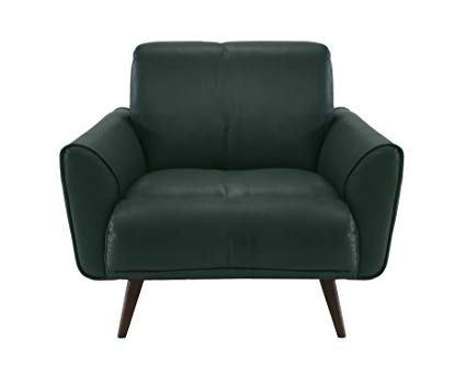 Amazon.com: Natuzzi Editions Tobia Green Leather Armchair: Kitchen