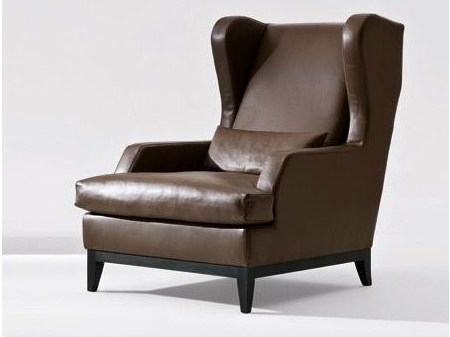 Leather armchair with armrests GREY | Leather armchair Grey