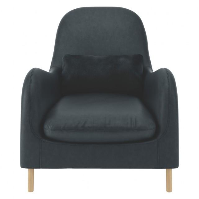 SMITHFIELD Dark grey luxury leather armchair | Buy now at Habitat UK