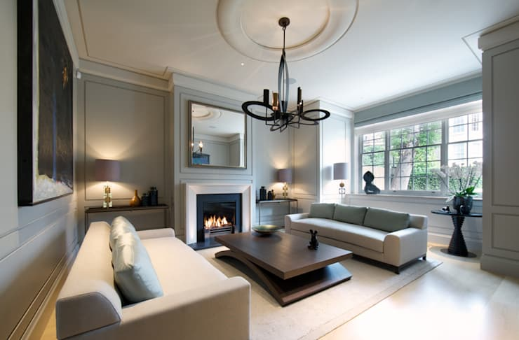 Working with colour: Grey living room ideas