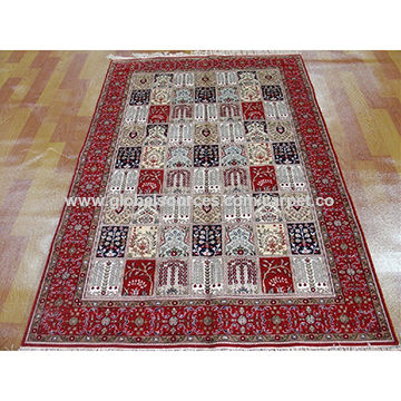 China Indian silk home textile handmade rugs and carpets made in