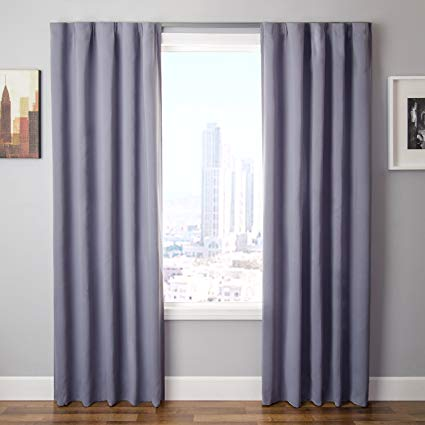 Amazon.com: The Simple Drape, Set of 2 Easy to Hang Total Black Out