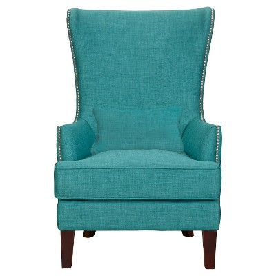 Karson High Back Upholstered Chair Teal - Picket House Furnishings