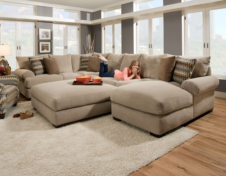 deep seated sectional couches | baccarat 3 pc sectional product no