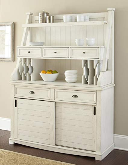Amazon.com - Steve Silver Cayla Buffet with Hutch in Antique White