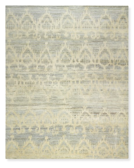 Hand Knotted Tonal Ikat Rug | Williams Sonoma