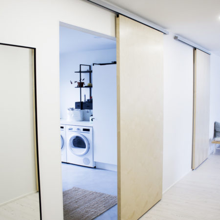 Sliding door systems for interior doors up to 100 kg weight capacity.