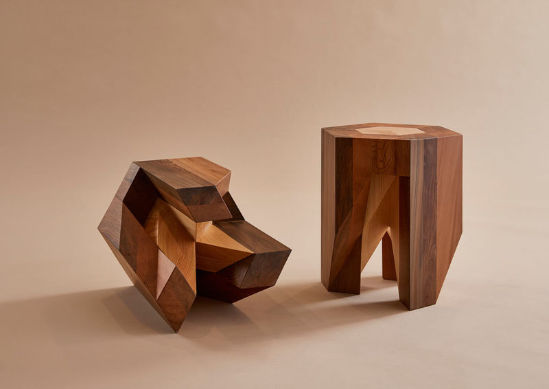 Puzzle-Like Wooden Stools : traditional Japanese furniture design